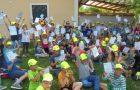 Tretješolci v letni šoli v naravi, plavanje v Čateških toplicah