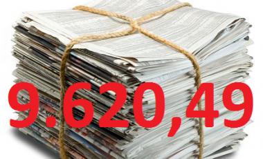 Uspešna zbiralna akcija papirja na Tovarniški